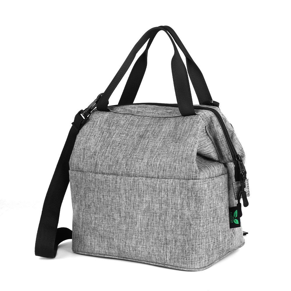 Amazon  Lunch Bag Insulated Tote with Zipper Extra Pocket Shoulder Strap  for  9.39 with code (As of 5 24 2018 10.58PM CDT) ba8f245f00dfa