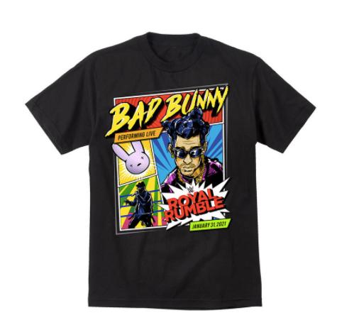 Wwe Releases Bad Bunny X Royal Rumble 2021 Merch Pursuit Of Dopeness En 2021