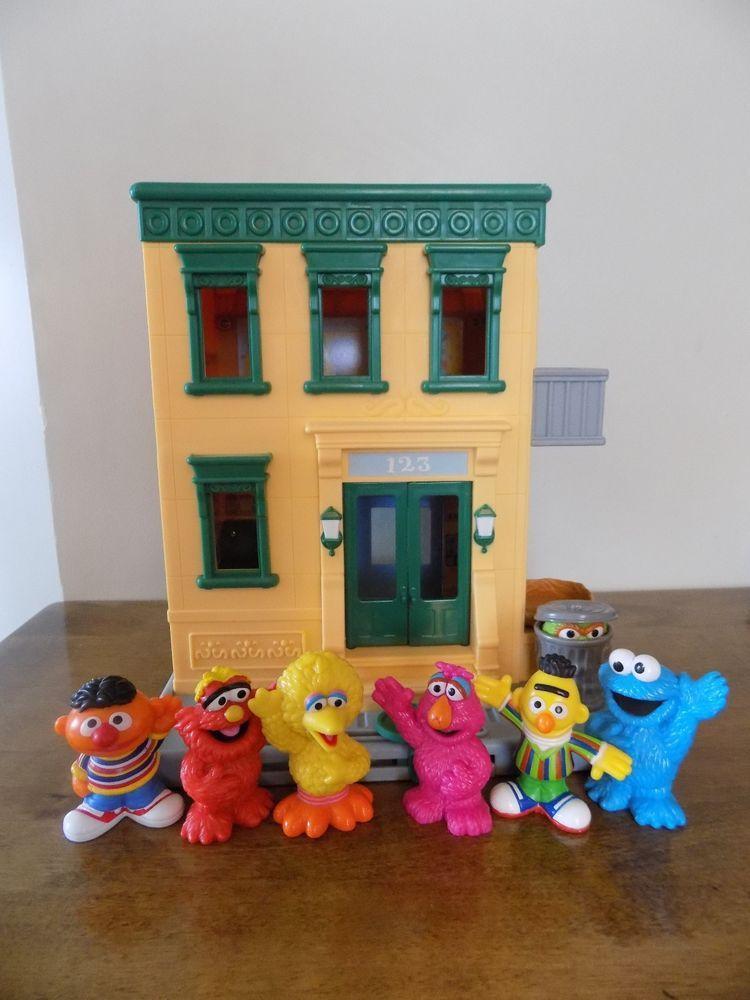 Lot Mattel Sesame Street Mr. Hooper's Store Playset House 123 Figures Toy Set #Hasbro