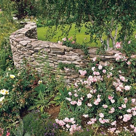 natursteinmauer im garten | steinmauer im garten bauen – ideen für, Best garten ideen