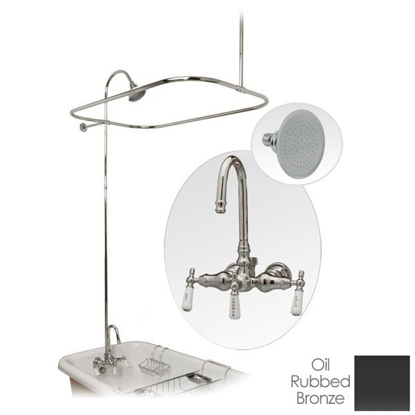 Clawfoot Tub Shower Enclosure With Shower Head With Images