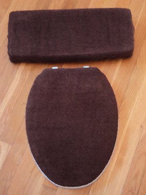 Chocolate Brown Bathroom Terry Cloth Terrycloth Toilet Seat