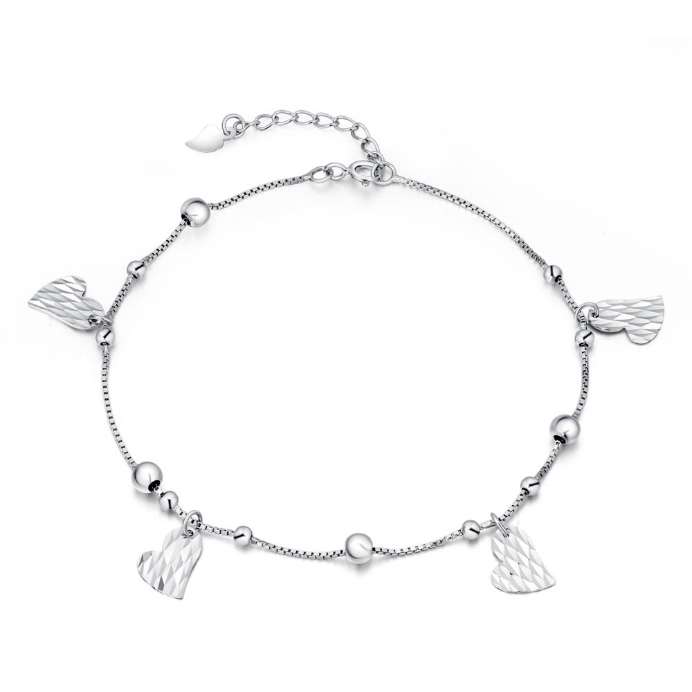 up beads with faceted bar charms anklets wholesale rolo bracelet collections photo available anklet products daisy lovely jewelry ankle chain adornment sterling bracelets in round charm silver close enamel w lengths and