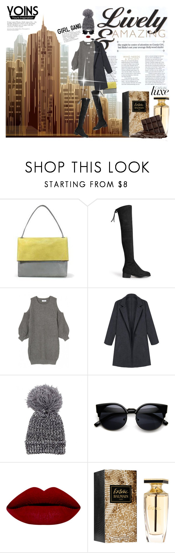"""""""Girl in the city """" by madlenbellucci ❤ liked on Polyvore featuring мода, Balmain, women's clothing, women's fashion, women, female, woman, misses, juniors и genuinepeople"""