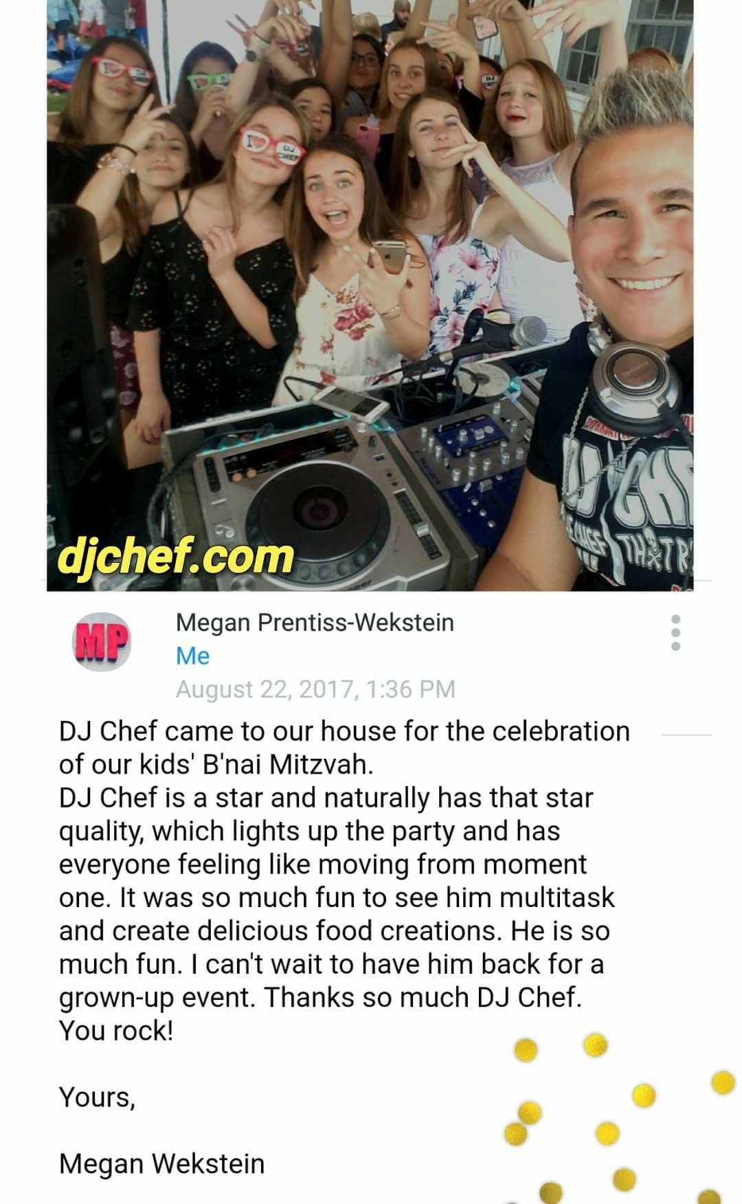 DJ CHEF Bar Mitzvah Long Island Bat Mitzvah kids party cooking class ...