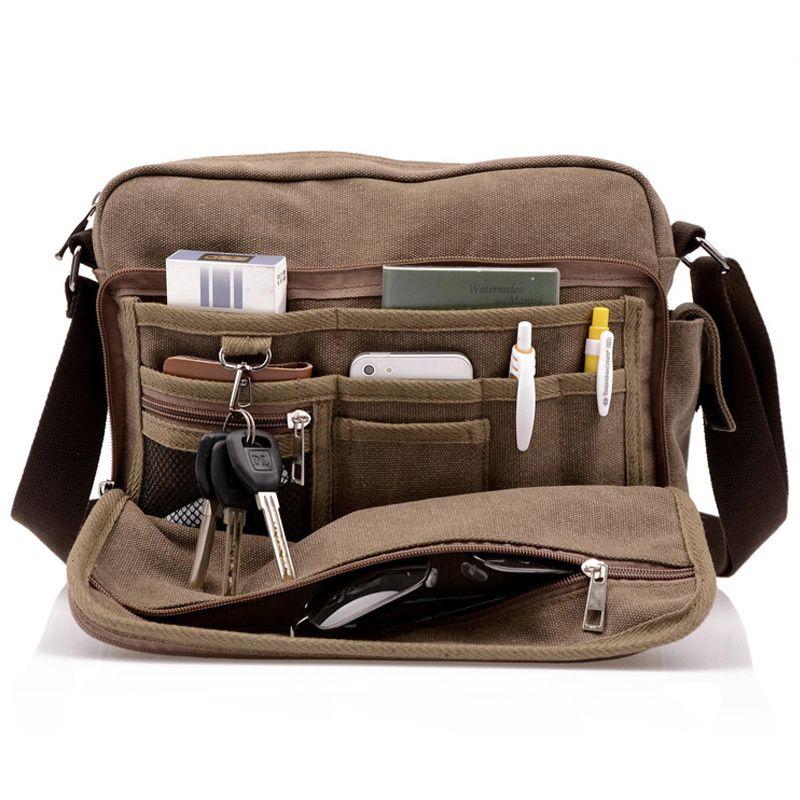966193ad9 Alta qualidade homens multifunções saco de lona bolsa masculina viagem  casual dos homens bolsa de ombro crossbody sacos de homens messenger, ...
