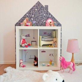 Wandfolie MöbelVilla für Puppenhaus IKEA KALLAX Regal