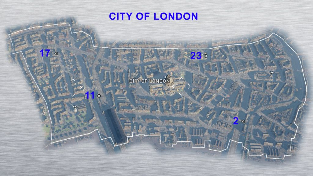 City Of London Secrets Of London Secrets Of London Assassins Creed Syndicate London Map