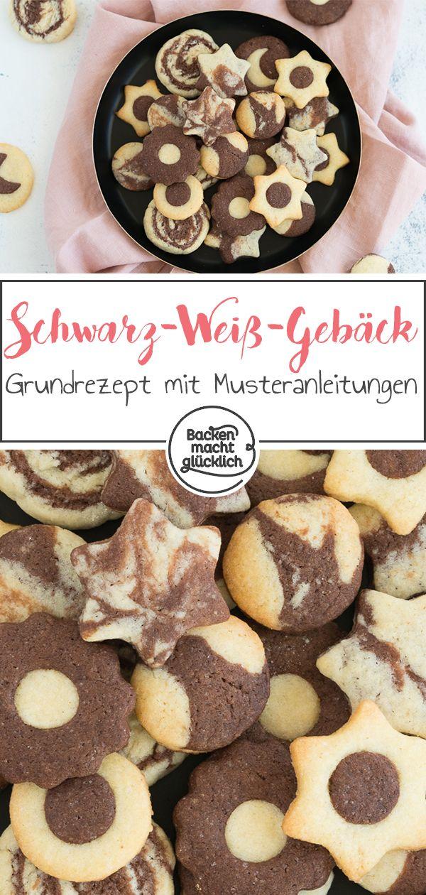 Schwarz-Weiß-Gebäck | Rețetă | dulciuri | Pinterest ...