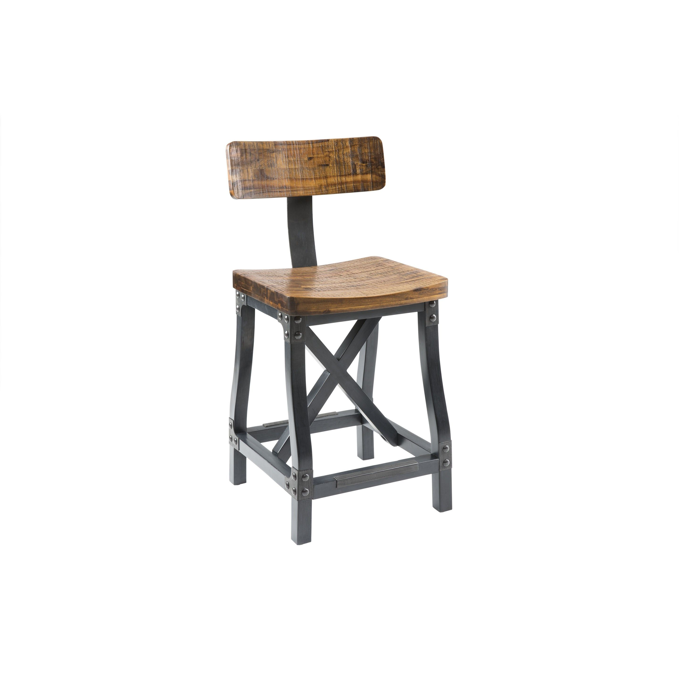 Superb Cheyenne Counter Height Bar Stool W Back Rustic Counter Gmtry Best Dining Table And Chair Ideas Images Gmtryco