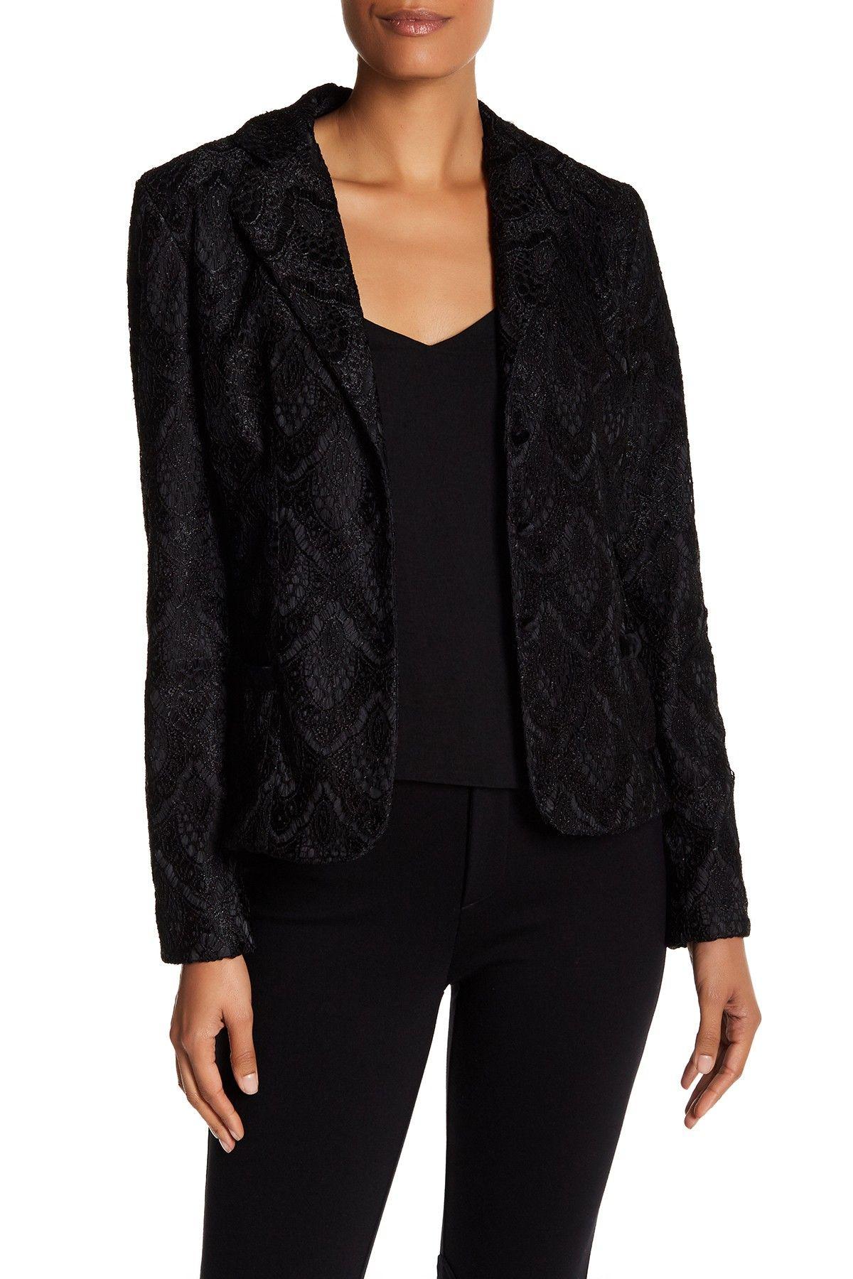 Art deco lace blazer shops lace and art