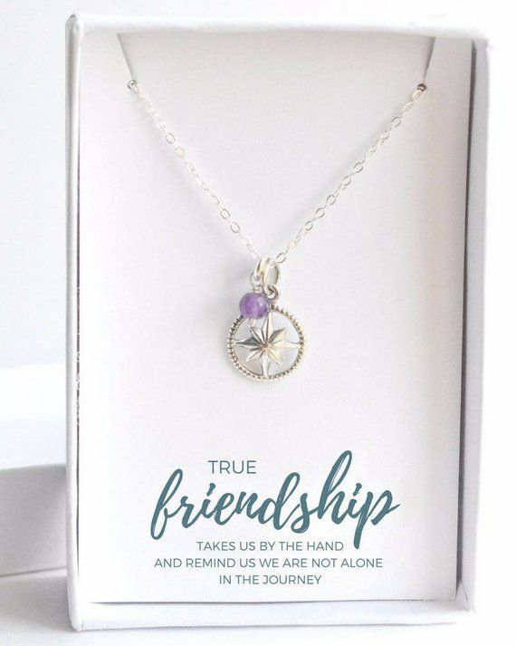 7136f1b13 Best Friend Gift - BFF Necklace - Custom Gift for Friend - Friendship  Necklace - Sterling Silver Com