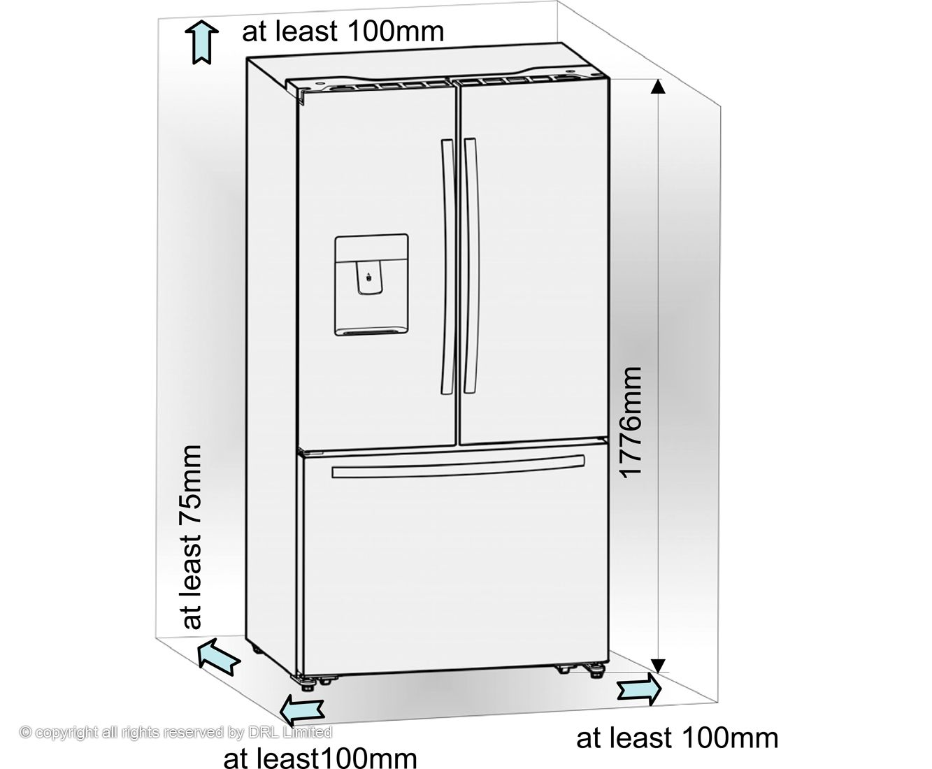 Wonderful Things To Consider About The Width Of Your New American Fridge Freezer  Kitchen Cabinet Doors,
