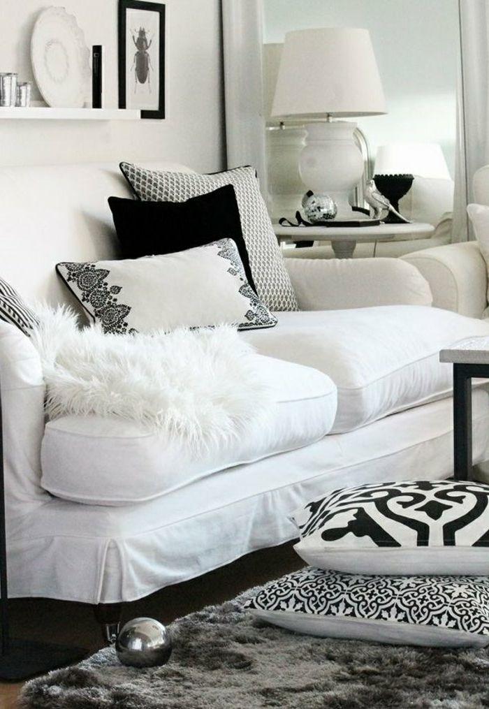 marokkanische lampen gestaltungideen im wohnzimmer weißes sofa - wohnzimmer deko weis