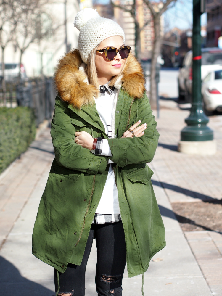 Street style tip of the day: Parka via @stylelist | http://aol.it/1DicbMN