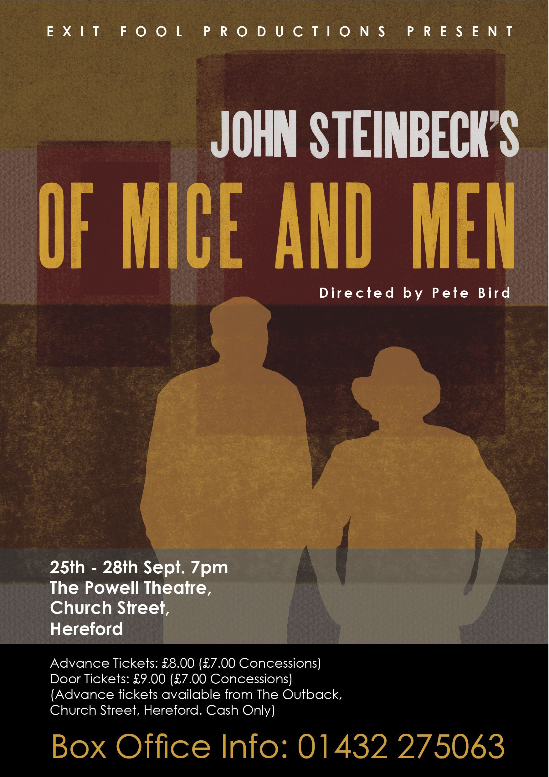 Of Mice and Men poster | My Work | Of mice, men, Poster ...