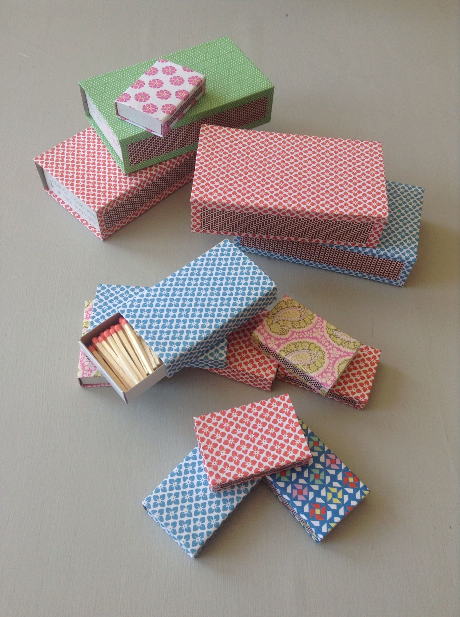 Delightful matchboxes made for Frille Design