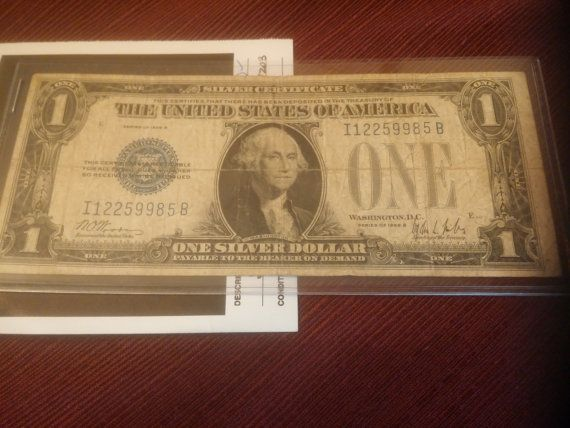 1928b one dollar silver certificate funny by DrewsCollectibles
