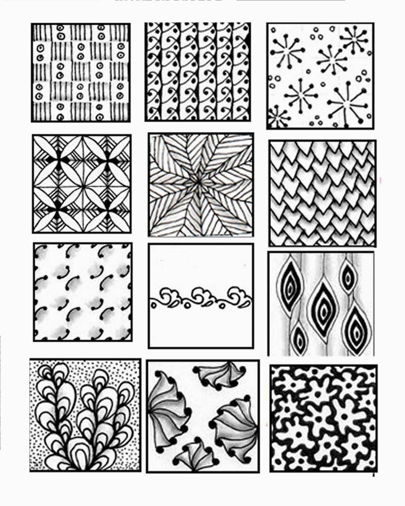 bronafbeelding weergeven …  pinteres… - zentangle patterns for beginners sheets