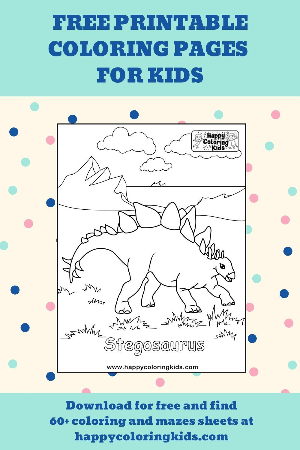 Free printable coloring pages of dinosaurs Stegosaurus