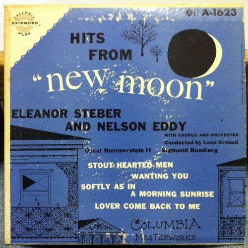 "ELEANOR STEBER & NELSON EDDY - New Moon 7"" LP album cover...Steber gets top billing???"