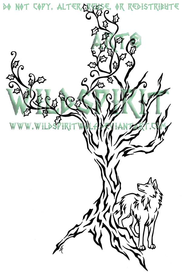 93d17984d Ivy Tree And Wolf Tattoo by *WildSpiritWolf on deviantART | Tattoos ...