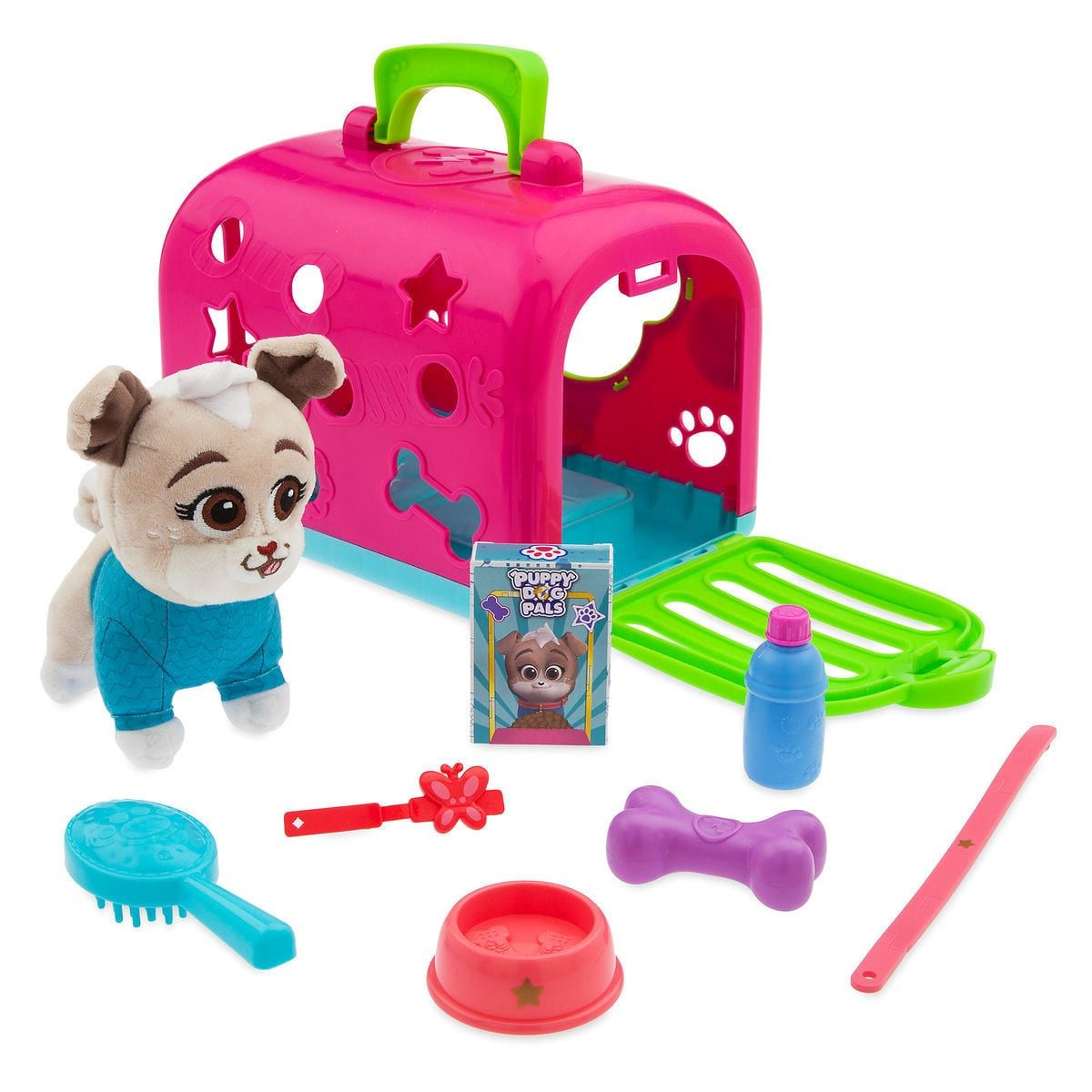 Keia Groom And Go Pet Carrier Play Set Puppy Dog Pals Little Girl Toys Minnie Mouse Toys Pet Carriers