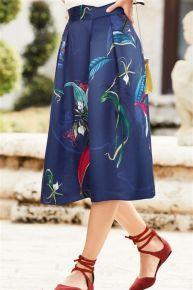 Blue Full Skirt