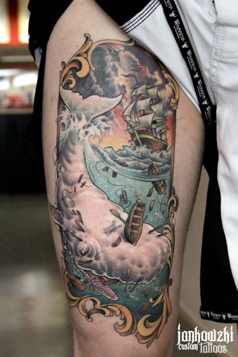 Moby Dick done by the talented Pawel Jankowzki at Kynst, Deventer. Design is Matt Verges inspired.