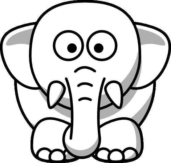 Animal Clip Art Black And White Clipart Best Cartoon Elephant Elephant Clip Art Elephant Icon