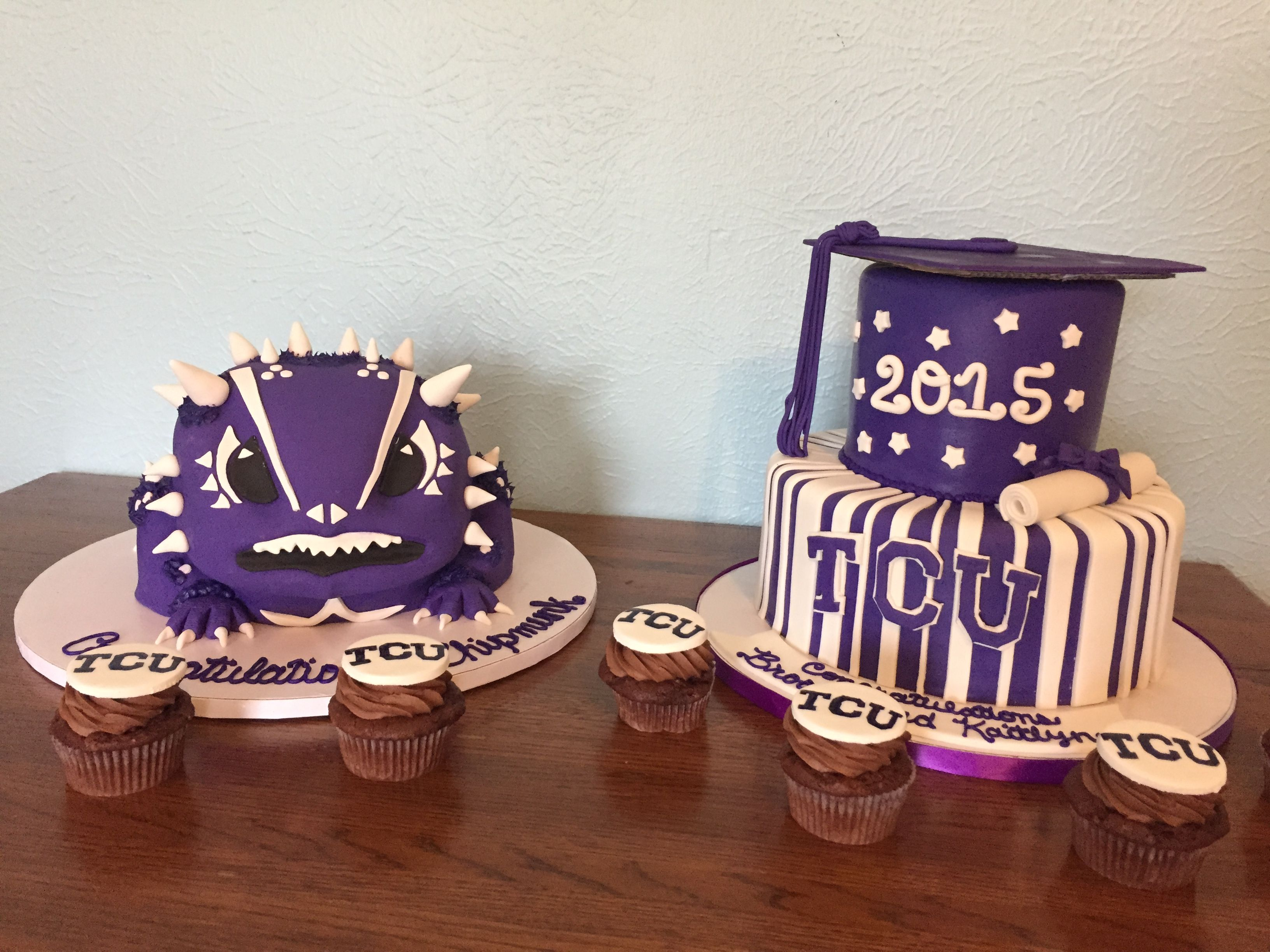 Tcu Grade Cakes With Matching Cupcakes Frog Cakes Boy