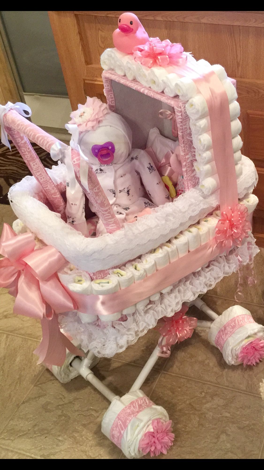 Instead Of A Diaper Cake For Baby Shower I Made My