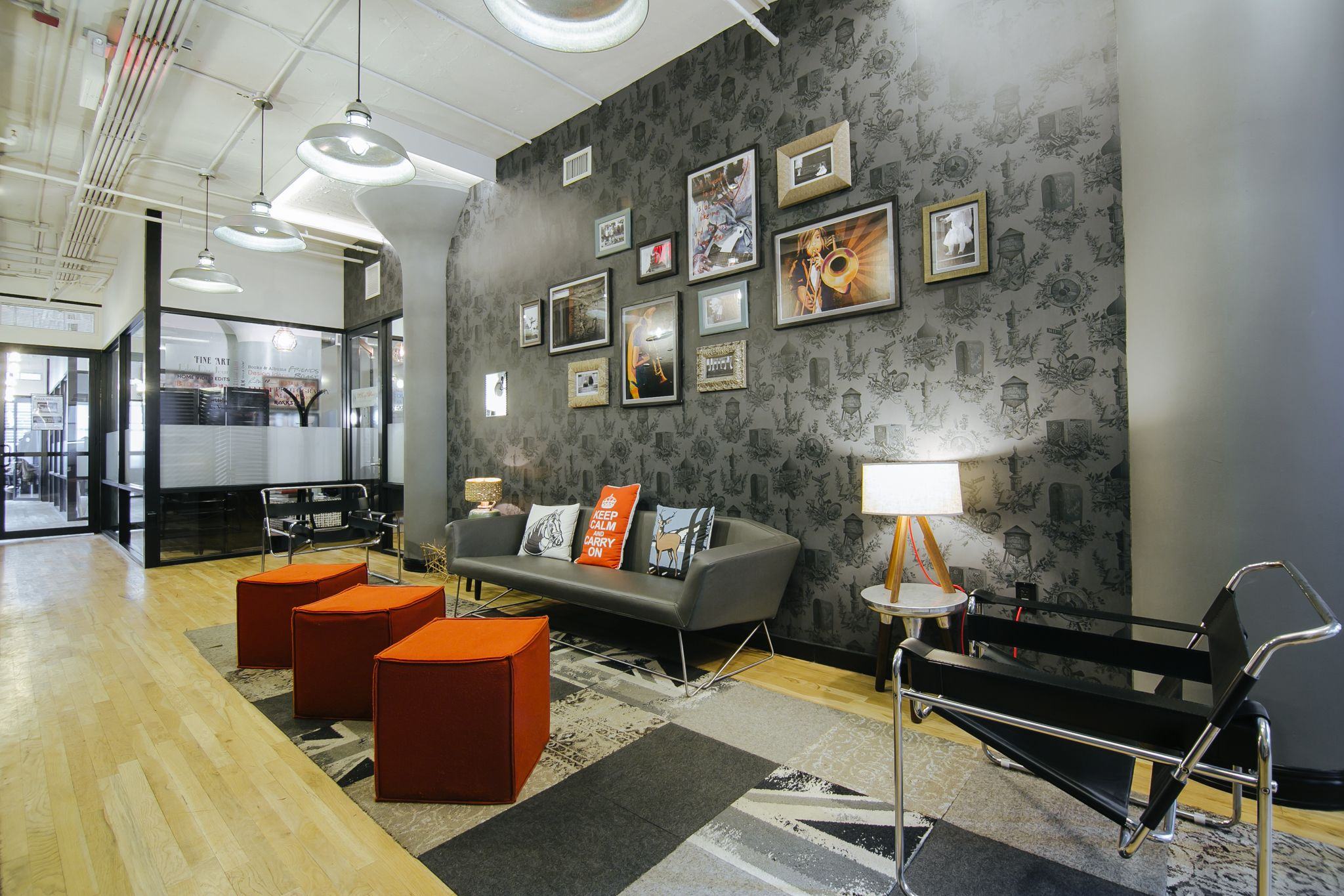 Color art office interiors - Image Result For Hip Office With Kitchen Living Room