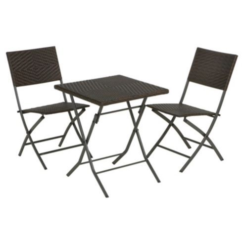 buy venus square rattan effect bistro set from our garden chairs range tescocom