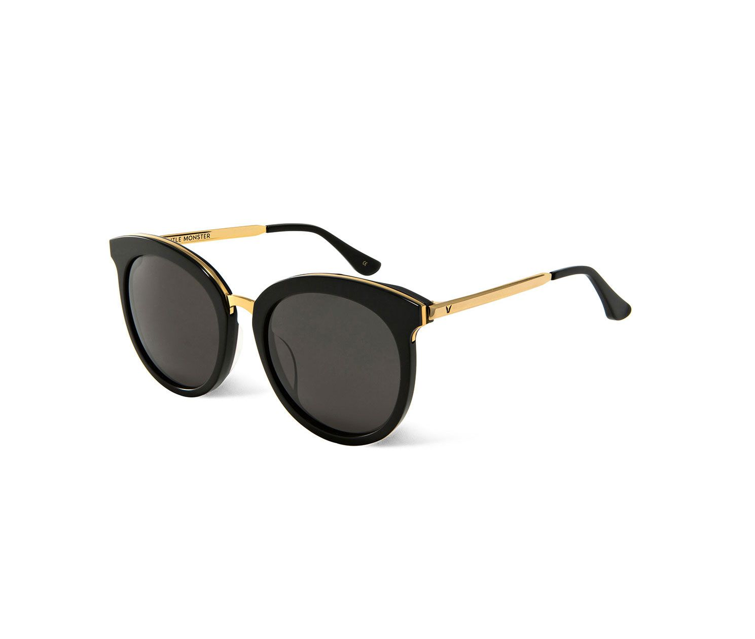 dc2b1bf2e24 GENTLE MONSTER - LOVESOME ONE 01 GOLD - round black and gold sunglasses