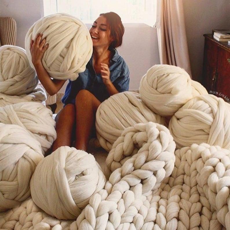 Big yarn Giant super bulky Merino epic extreme Arm
