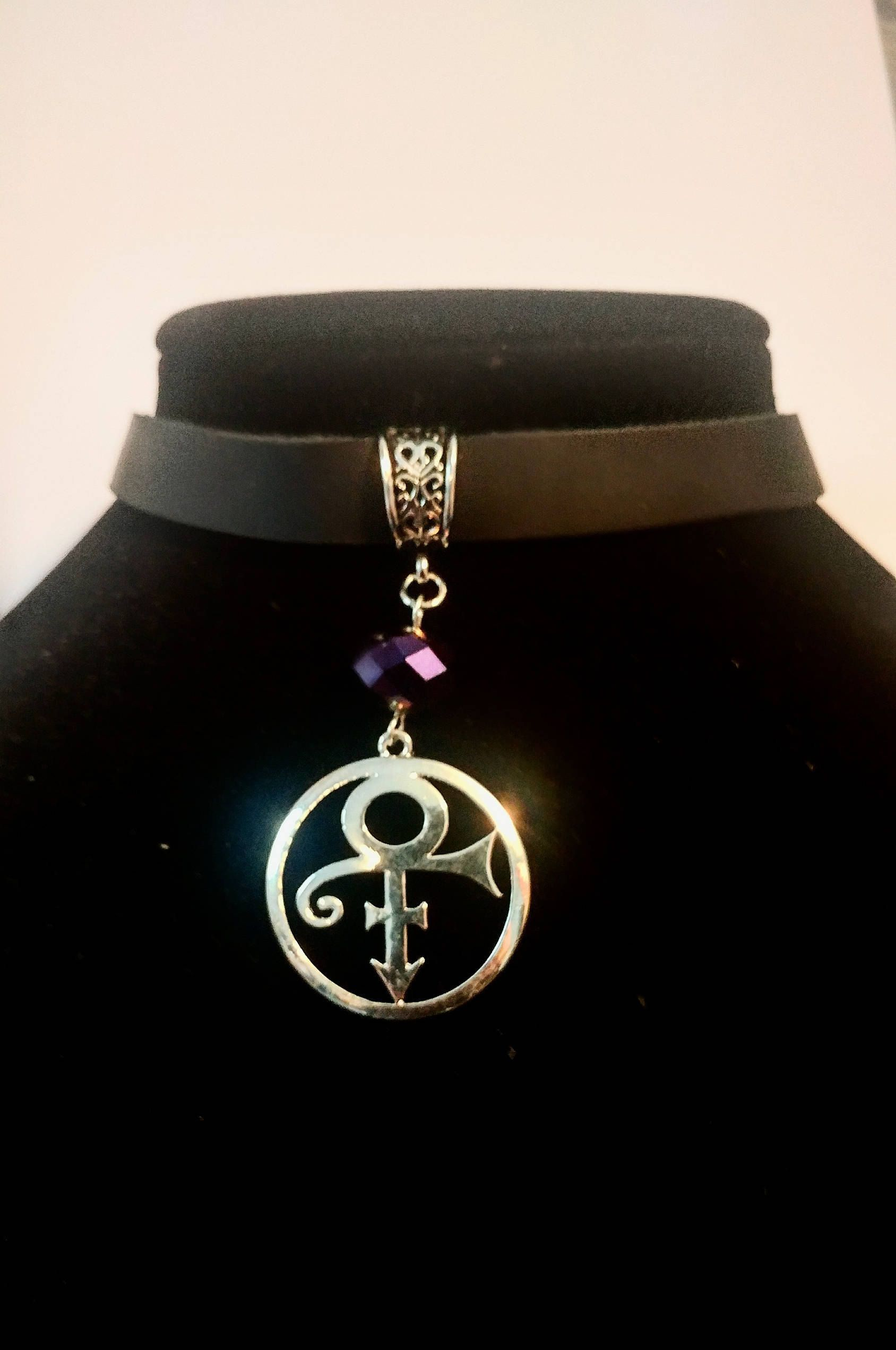 Prince prince symbol prince rogers nelson prince choker prince prince symbol prince rogers nelson prince choker necklace black leather prince buycottarizona Choice Image