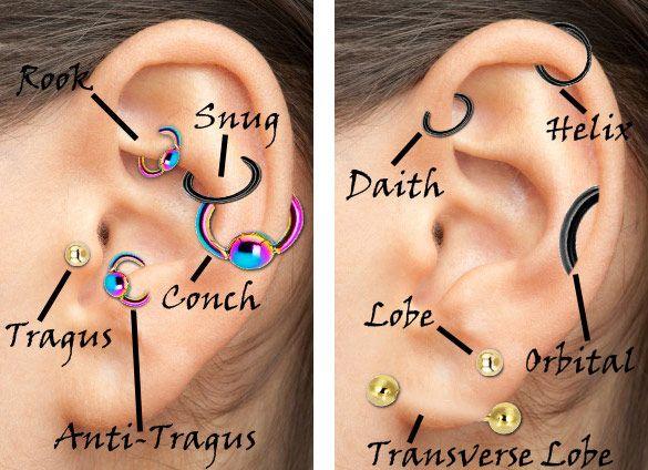 Ear cartilage piercings also my style rh pinterest
