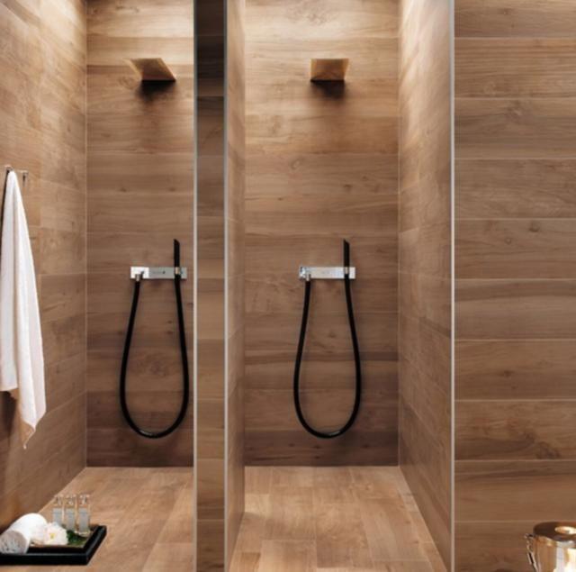 30 great bathroom tile ideas for the home wood tile - How do you tile a bathroom floor ...