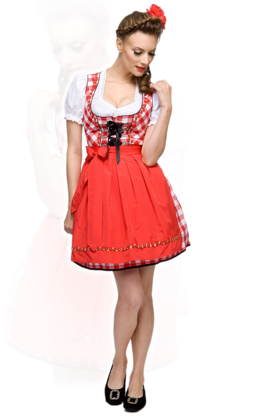 stockerpoint minidirndl 3tlg joy rot 50 cm blockkaro. Black Bedroom Furniture Sets. Home Design Ideas