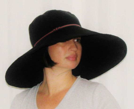 b661ef8a3cbe3a Extra Wide Brim Bucket Style Sunhat for Women in Black by Sookie, $98.00