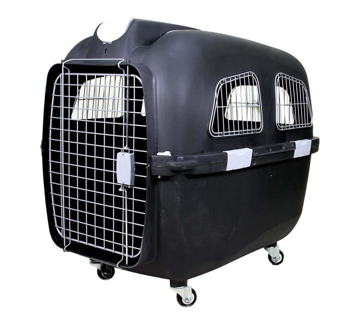 Dog Crate With Revolving Wheel And Extendable Handle