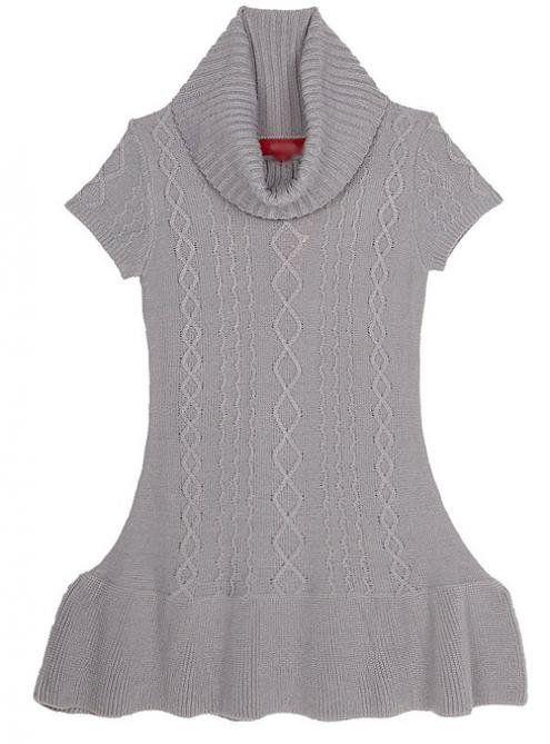 Gray Lotus Leaf SHort Sleeve Sweater$55.00