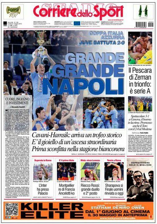 Corriere dello sport Napoli, Sport, Calcio