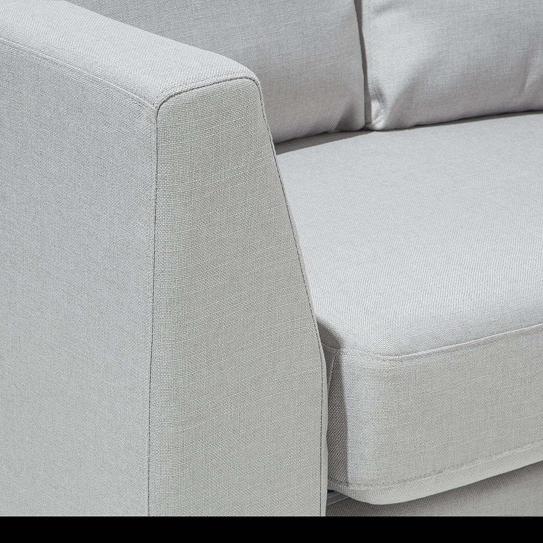 Beliani Modern Round Sectional Sofa in Fabric ROTUNDE