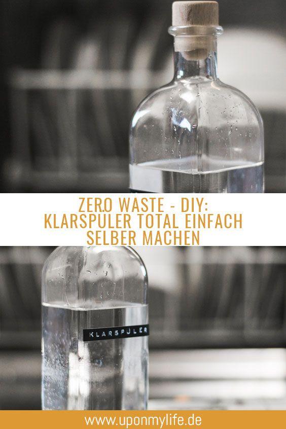 Zero Waste - DIY Klarspüler für die Geschirrspülmaschine selber machen
