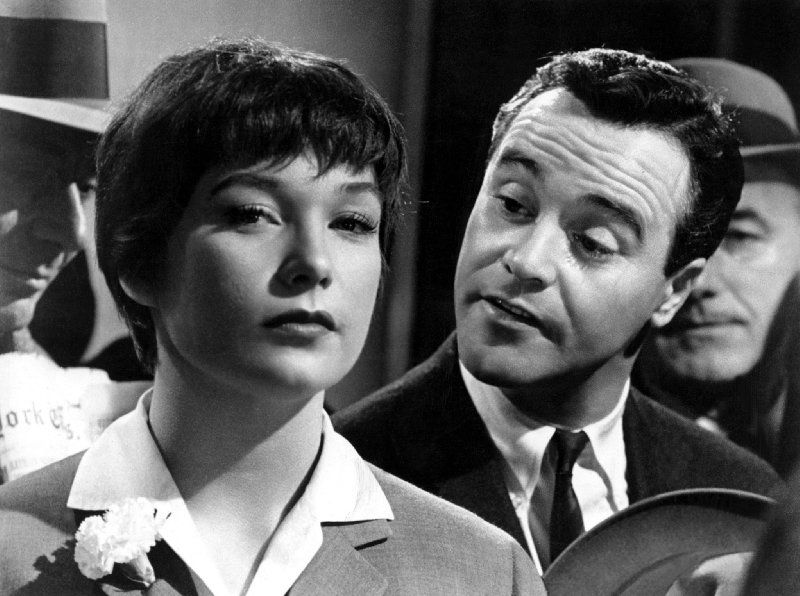 """Shirley MacLaine and Jack Lemon in """"The Apartment"""", 1960"""