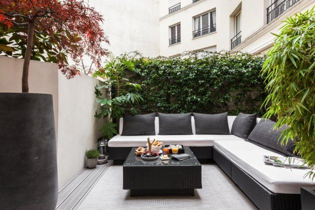 Petite cour aménagée à Paris ( vu sur Lodgis)   Jardins de ...