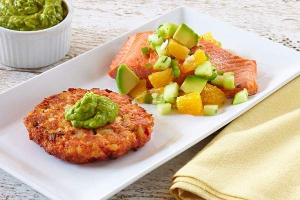 Photo of Oven Roasted Salmon with Avocado Citrus Salsa recipe