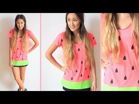 261641880 Last Minute DIY Halloween Costume  Watermelon! - YouTube Pink shirt ...